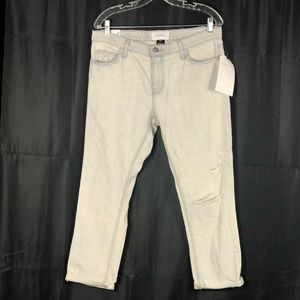 Current/Elliott The Cropped Straight Jeans Size 29